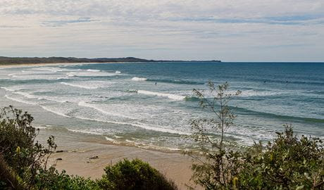 Rocky Point walking track, Yuraygir National Park. Photo: Rob Cleary / Seen Australia