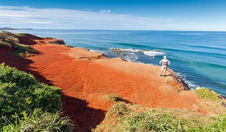 Red Cliffs, Yuraygir Coastal Walk, Yuraygir National Park. Photo: Rob Cleary