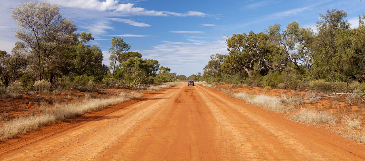 Drive the red dirt roads of Gundabooka National Park. Photo: David Finnegan/OEH