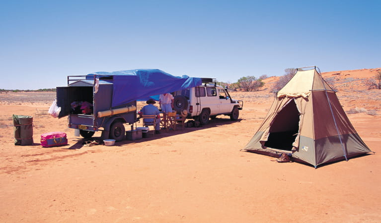 Fort Grey campground, Sturt National Park. Photo: Jann Tuxford