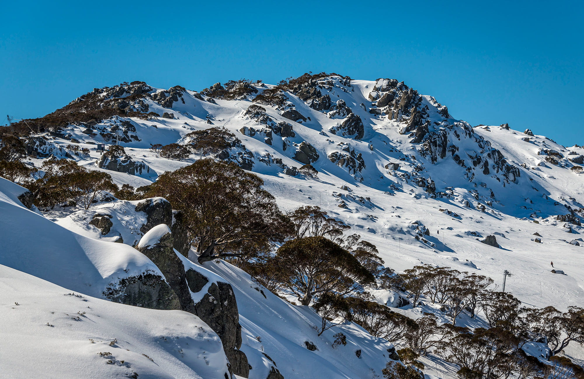 Snow covered mountain, Kosciuszko National Park. Photo: John Spencer
