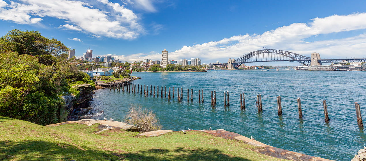 Views from Goat Island to the Sydney Harbour Bridge, Sydney Harbour National Park: Photo: David Finnegan