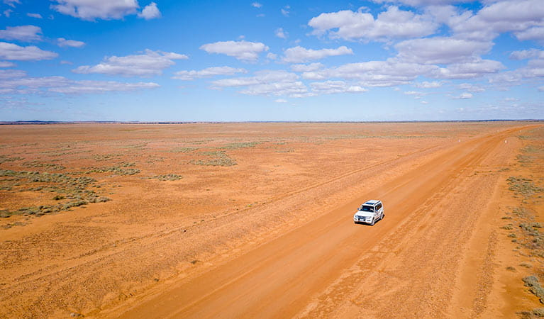 4WD outback driving in Sturt National Park. Photo: John Spencer/DPIE