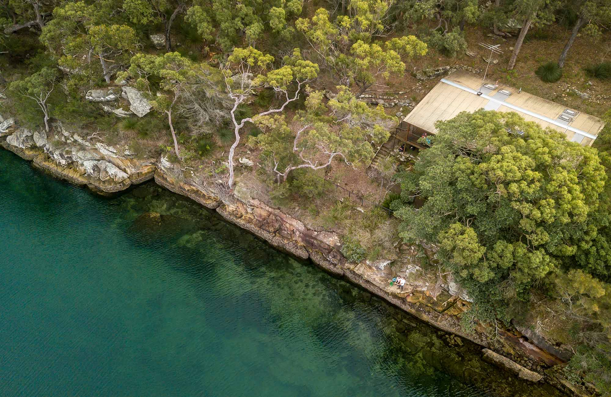 Aerial view of Weemalah Cottage. John Spencer/DPIE