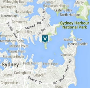 Map of Athol Hall, Sydney Harbour National Park. Image: OEH
