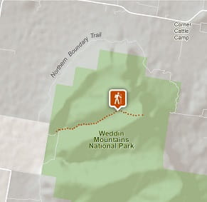 Map of the Basin Gully to Eualdrie Lookout walking track. Photo: OEH