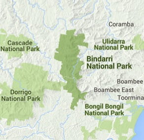 Map of Bindarri National Park