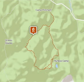 Map of Breadknife and Grand High Tops walk in Warrumbungle National Park