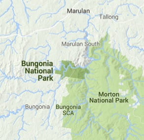 Map of Bungonia National Park