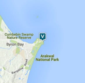 Map of Cape Byron Lighthouse precinct, Cape Byron State Conservation Area. Image: OEH