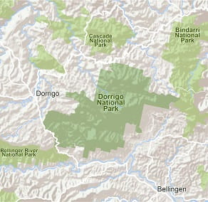 Map of Dorrigo National Park