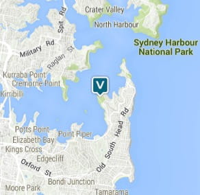 Map of Greycliffe Gardens, Nielsen Park, Sydney Harbour National Park. Image: OEH