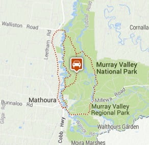 Map of Gulpa Island Drive, Murray Valley Regional Park. Image: OEH