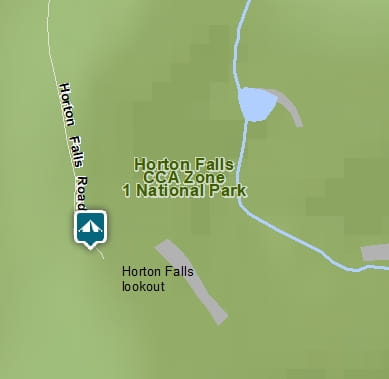 Map of Horton Falls campground in Horton Falls National Park