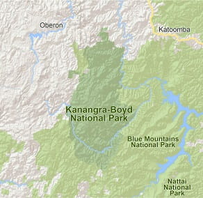 Map of Kanangra-Boyd National Park