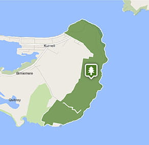 Map of the Kurnell area in Kamay Botany Bay National Park. Image: OEH