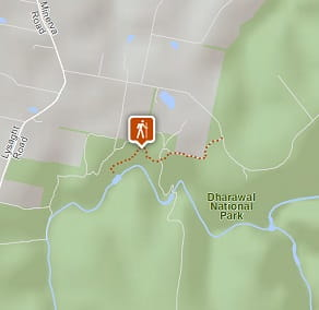 Map of Minerva Pool walking track, Dharawal National Park. Image: OEH