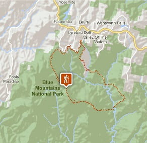 Map image of Mount Solitary walking track