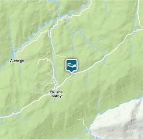 Map of Numbananga Lodge location in Kosciuszko National Park.