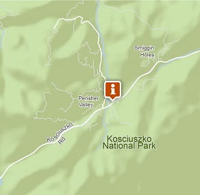 Map of Perisher Information Centre, Kosciuszko National Park. Image: OEH