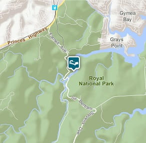 Map of Reid's Flat cottage in Royal National Park