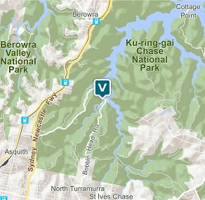Map of The Station, Ku-ring-gai Chase National Park.