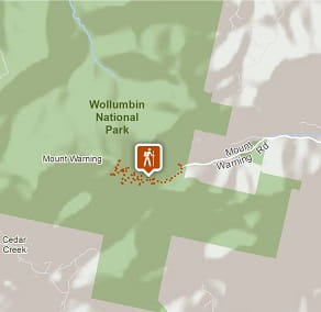 Map of Wollumbin (Mount Warning) Summit track. Image: OEH