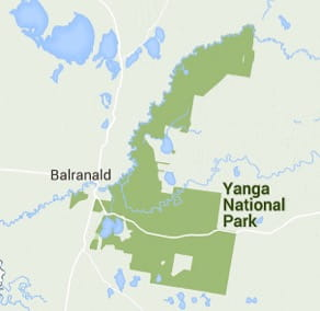 Map of Yanga National Park