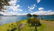 Looking across the harbour from Clark Island, Sydney Harbour National Park. Photo: John Yurasek