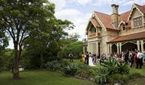 Garden wedding, Greycliffe Gardens, Sydney Harbour National Park. Photo: The Follans