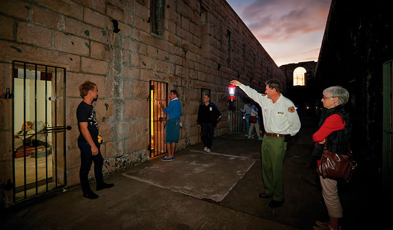 Trial Bay Gaol Discovery tour, Arakoon National Park. Photo: Rob Cleary/Seen Australia