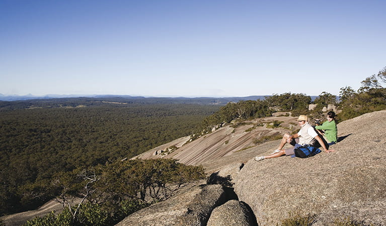 At the summit of Bald Rock National Park. Photo: Paul Foley