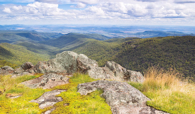 Views from Eckfords lookout, Mount Kaputar National Park. Photo: Rob Cleary