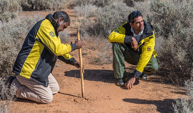 Aborginal Discovery rangers, Mungo National Park. Photo: John Spencer
