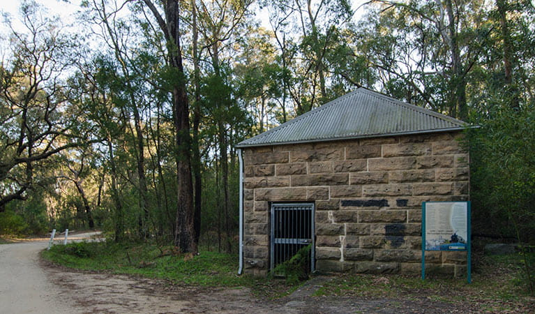 Pump house, Thirlmere Lakes National Park. Photo: John Spencer