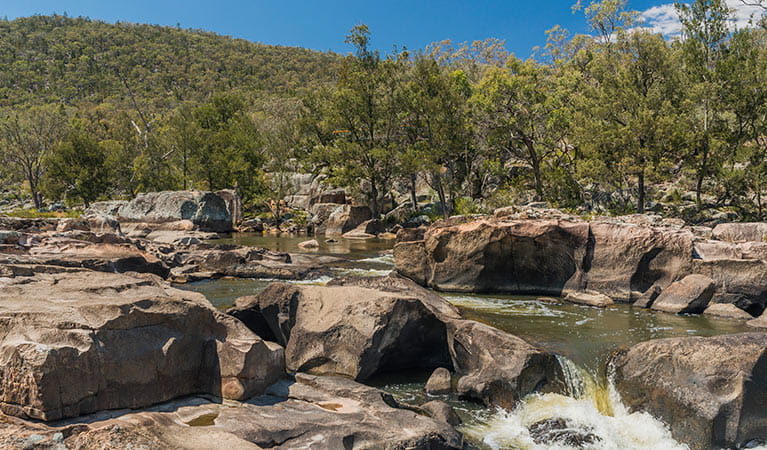 River winding thought the rocks, Warrabah National Park. Photo: David Young