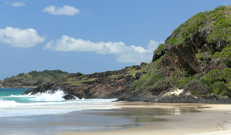 Beach and rocky headland in Yarriabini National Park. Photo: Shane Ruming