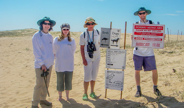 Volunteers of the far south coast Shorebird Recovery Program. Photo: OEH