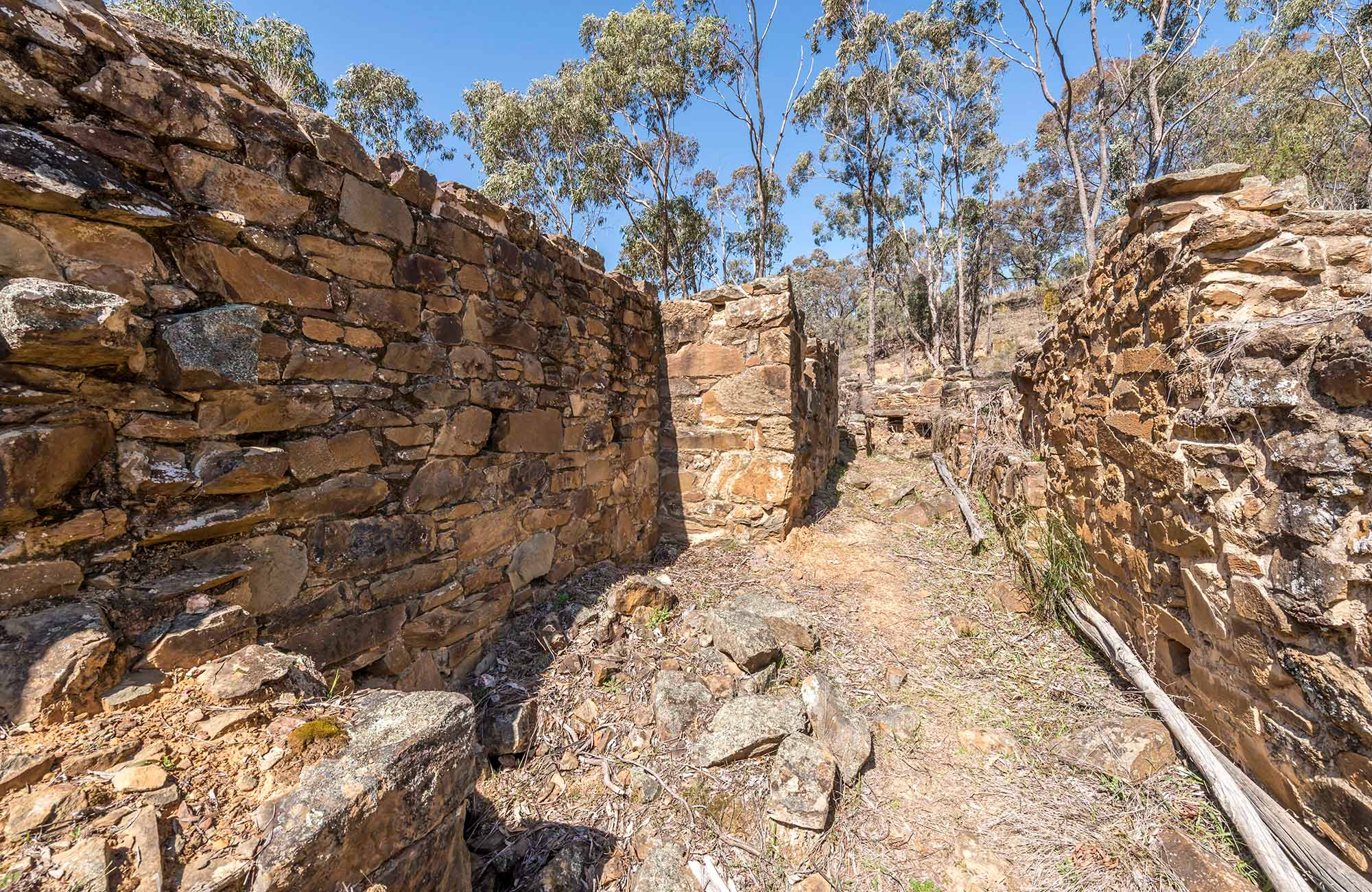Cornish quartz roasting pits, Hill End Historic Site. Photo: John Spencer