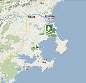 Australia Map Jervis Bay.Jervis Bay National Park Map Nsw National Parks