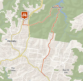 Mount Colah Station to Pymble Station cycle route