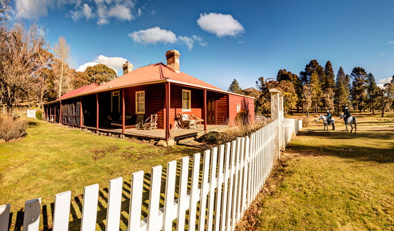 Currango Homestead fence, Kosciuszko National Park. Photo: Copyright Murray Vanderveer