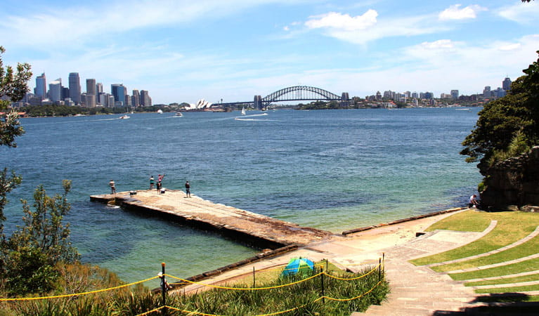 View from Bradleys Head Amphitheatre across Sydney Harbour. Photo: John Yurasek