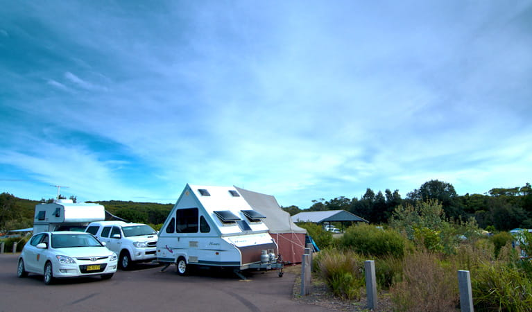 Caravans in Freemans campground. Photo: John Spencer