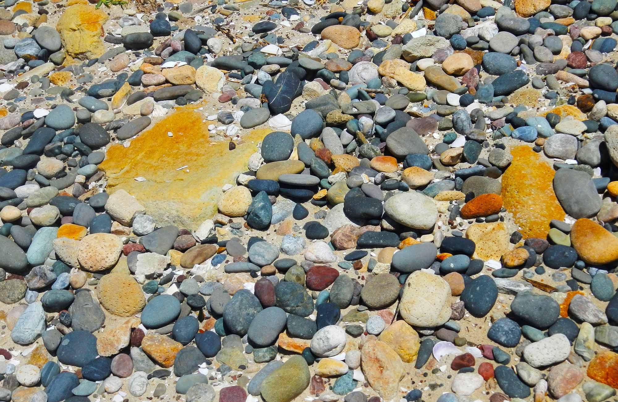 Colourful pebbles. Photo: Debby McGerty