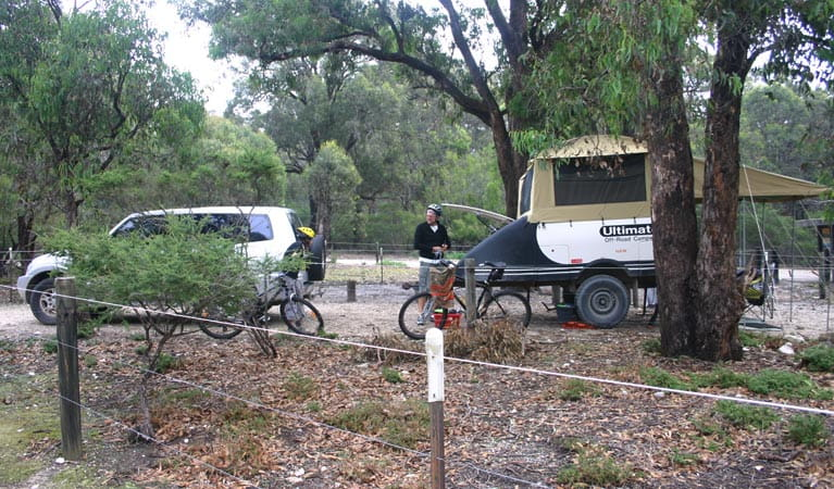 Camper at Bittangabee campground. Photo: David Costello