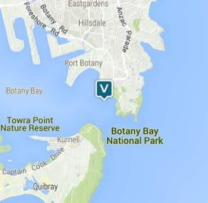 Map of Bare Island Fort, Kamay Botany Bay National Park. Image: OEH