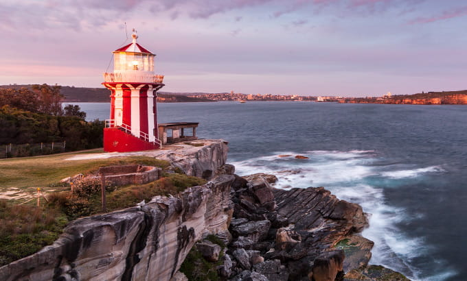 Hornby Lighthouse at South Head, Sydney Harbour National Park. Photo: D Finnegan/OEH.