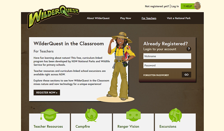 Wilderquest Learning digital resource