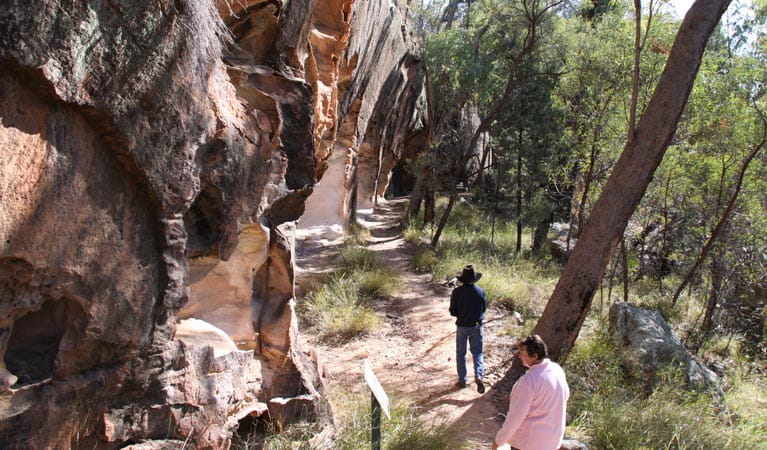 People on the Sandstone Caves walking track. Photo: Rob Cleary